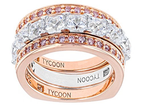 Photo of Tycoon For Bella Luce ® 5.14ctw White/Pink Diamond Simulants Platineve™& Eterno™ Rose Rings - Size 8