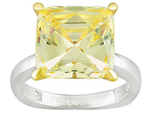 Photo of Tycoon For Bella Luce ® 14.09ctw Canary Diamond Simulant Platineve® Ring (9.52ctw Dew) - Size 9