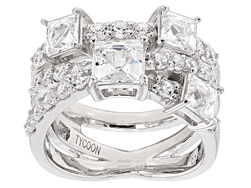 Tycoon For Bella Luce ® 4.24ctw Platineve ™ Ring (2.57ctw Dew) - Size 10