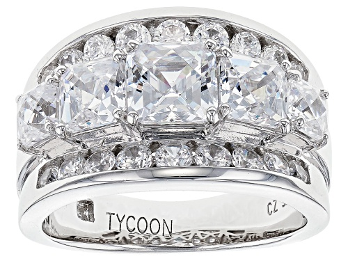 Photo of Bella Luce ® 6.81ctw Platineve® Ring Featuring Tycoon Cut ® (4.24ctw Dew) - Size 10