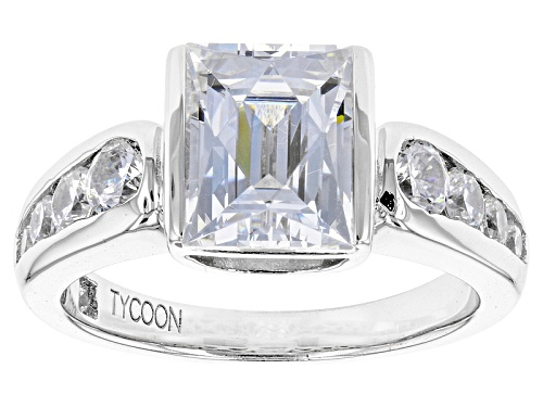 Photo of Tycoon For Bella Luce ® 5.65ctw White Diamond Simulant Platineve® Ring(3.36ctw Dew) - Size 8