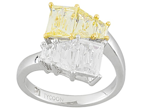 Photo of Tycoon For Bella Luce ® 5.84ctw Canary And White Diamond Simulants Platineve® Ring - Size 7
