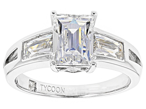 Photo of Tycoon For Bella Luce ® 4.68ctw White Diamond Simulant Platineve® Ring(2.40ctw Dew) - Size 7