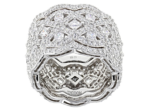 Photo of Tycoon For Bella Luce ® 7.84ctw Platineve Ring With Bands (5.13ctw Dew) - Size 5