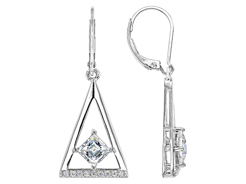 Photo of Bella Luce ® 2.59ctw White Diamond Simulant Platineve® Earrings Featuring Tycoon Cut ®(1.60ctw Dew)