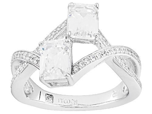 Photo of Tycoon For Bella Luce ® 3.36ctw White Diamond Simulant Platineve® Ring(2.37ctw Dew) - Size 7