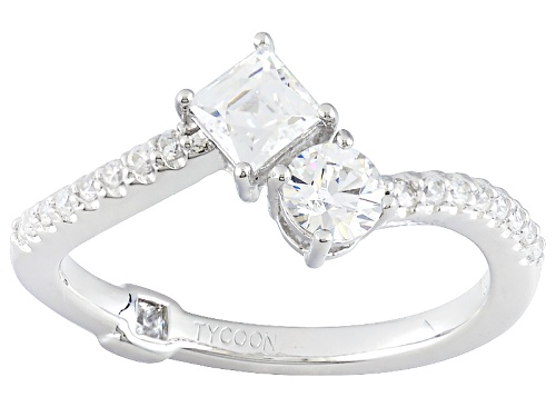 Photo of Tycoon For Bella Luce ® 1.23ctw White Diamond Simulant Platineve ™ Ring(.80ctw Dew) - Size 8