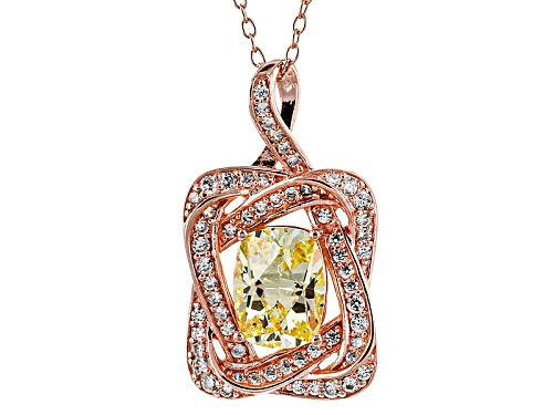 Photo of Tycoon For Bella Luce ® 3.01ctw Canary/White Diamond Simulant Eterno ™ Rose Pendant/Chain