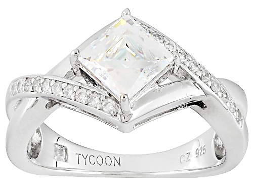 Photo of Tycoon For Bella Luce ® 2.28ctw White Diamond Simulant Platineve® Ring(1.44ctw Dew) - Size 8