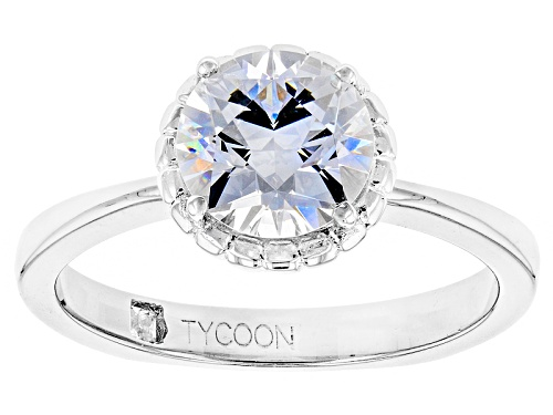 Photo of Bella Luce ® 3.77ctw White Diamond Simulant Platineve® Ring Featuring Tycoon Cut ®(2.67ctw Dew) - Size 11