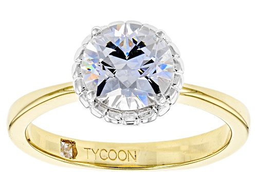 Photo of Bella Luce ® 3.77ctw White Diamond Simulant Eterno ™Yellow Ring Featuring Tycoon Cut ®(2.67ctw Dew) - Size 8