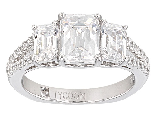 Photo of Tycoon For Bella Luce ® 4.95ctw Diamond Simulant Platineve® Ring (3.34ctw Dew) - Size 10