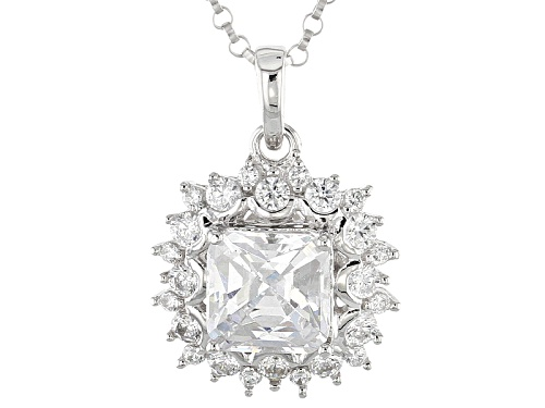 Photo of Tycoon For Bella Luce ® 3.71ctw Diamond Simulant Platineve® Pendant With Chian