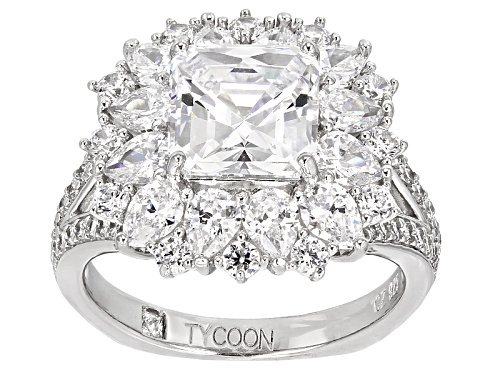Tycoon For Bella Luce ® 8.58ctw White Diamond Simulant Platineve® Ring (6.25ctw Dew) - Size 7