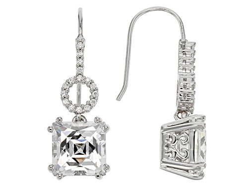 Tycoon For Bella Luce ® 8.91ctw Diamond Simulant Platineve® Earrings (6.18ctw Dew)