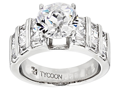 Photo of Tycoon For Bella Luce® 7.37ctw White Diamond Simulant Platineve® Ring (5.45ctw Dew) - Size 12