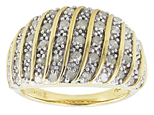 Photo of Engild™ 1.00ctw Round White Diamond 14k Yellow Gold Over Sterling Silver Cluster Ring - Size 6