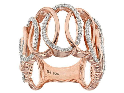 Photo of Engild™ .40ctw Round White Diamond 14k Rose Gold Over Sterling Silver Crossover Ring - Size 6