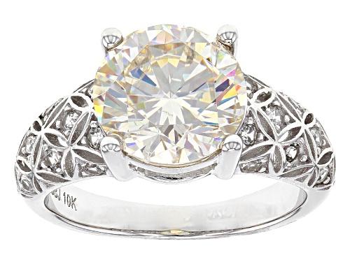 Photo of 4.54ct  Fabulite Strontium Titanate And .37ctw Round White Zircon 10k White Gold Ring - Size 8