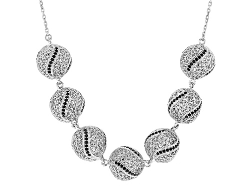 Photo of Artisan Collection Of Turkey™ 4.50ctw Round Black Spinel Sterling Silver Necklace - Size 18