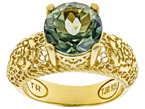 Photo of Artisan Collection Of Turkey™ Green Quartz 18K Yellow Gold Over Silver Rose A La Turca Ring - Size 10