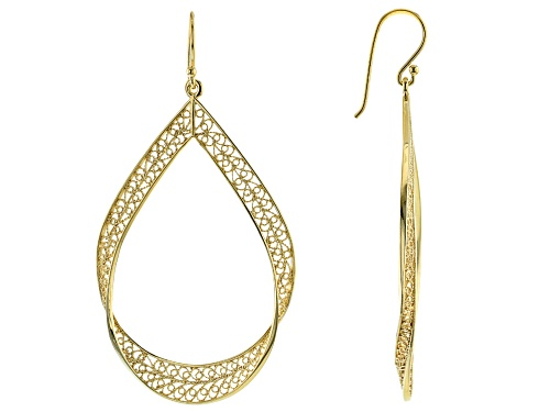Photo of Artisan Collection of Turkey™ 18K Yellow Gold Over Sterling Silver Filigree Earrings