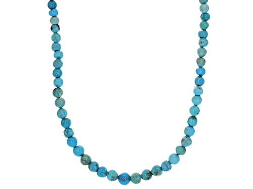 Tehya Oyama Turquoise™ Graduated 3-7mm Sleeping Beauty Turquoise Bead Sterling Silver Necklace - Size 28