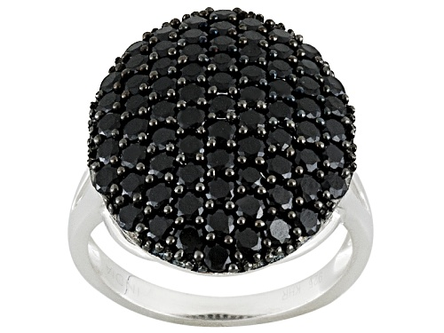 Photo of 3.38ctw Round Black Spinel Sterling Silver Ring - Size 5