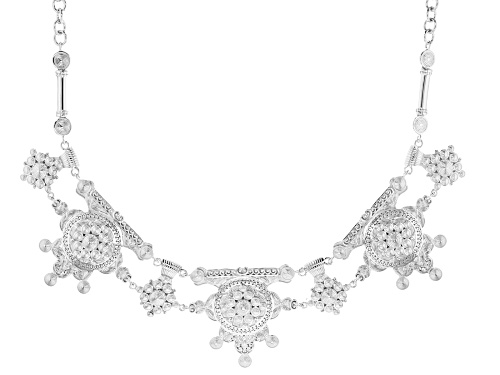 Photo of Global Destinations™ Sterling Silver Over Brass Statement Necklace - Size 20