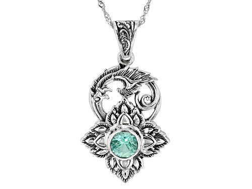 Photo of Global Destinations™ 2.00ct Lab Created Green Spinel Solitaire, Sterling Silver Enhancer W/Chain