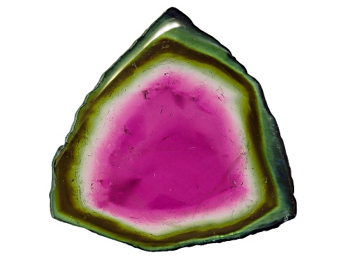 Photo of Brazilian Watermelon Tourmaline Polished Slice Min 15.00ct Mm Varies Free Form Colors Will Vary