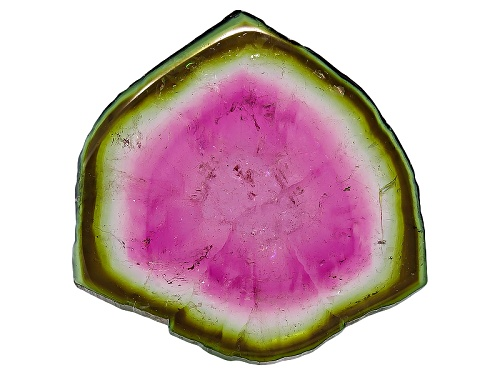 Photo of Brazilian Watermelon Tourmaline Polished Slice Min 20.00ct Mm Varies Free Form Colors Will Vary
