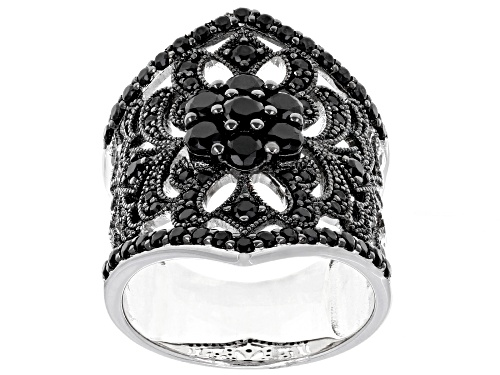 Photo of 1.80ctw Round Black Spinel Sterling Silver Ring - Size 5