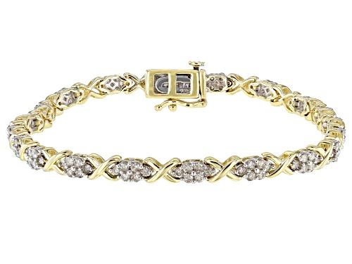 Photo of 2.00ctw Round Diamond 10k Yellow Gold Bracelet - Size 7.25