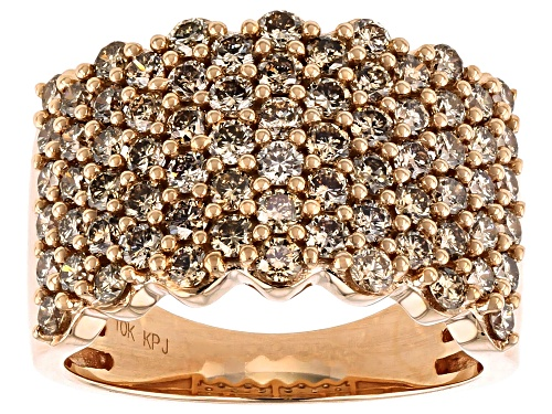 Photo of 2.00ctw Round Champagne Diamond 10K Rose Gold Ring - Size 6