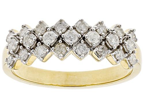 Photo of 0.50ctw Round White Diamond 10K Yellow Gold Band Ring - Size 6