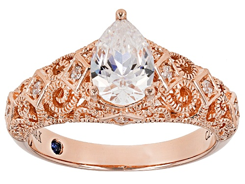 Photo of Vanna K ™ For Bella Luce ® 2.33ctw Pear Shape And Round Eterno™ Ring - Size 10