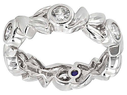 Photo of Vanna K ™ For Bella Luce ® 1.69ctw Platinum Plated Sterling Silver Ring - Size 6