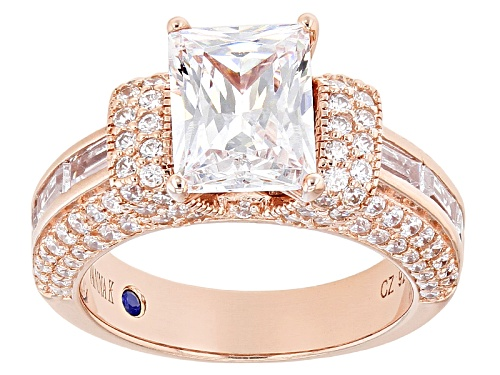 Photo of Vanna K ™ For Bella Luce ® 6.81ctw Rectangle, Baguette  & Round Eterno ™ Ring - Size 8