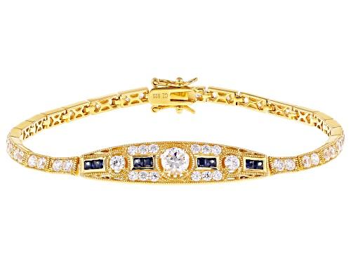 Photo of Vanna K ™ For Bella Luce ® 6.94ctw Tanzanite & Diamond Simulants Eterno ™ Yellow Bracelet - Size 8