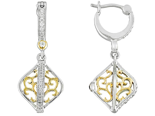 Photo of Vanna K ™ For Bella Luce ® .54ctw Two-Tone 18k Yellow Gold Over Platineve™ Earrings