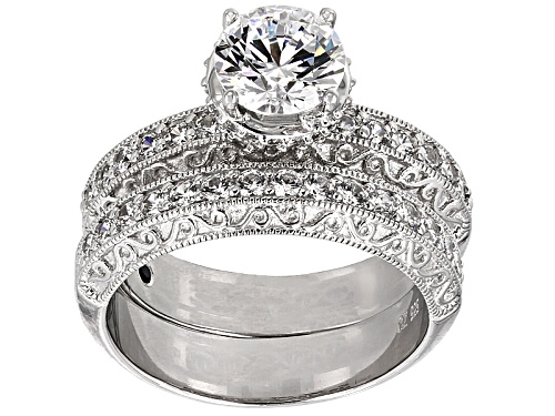 Photo of Vanna K™ For Bella Luce® 5.51ctw Round Platineve® Ring With Band - Size 10