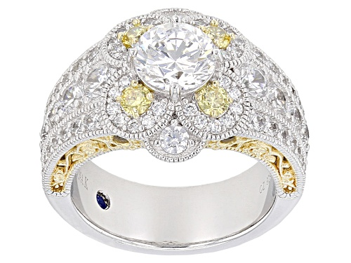 Photo of Vanna K ™ For Bella Luce ® 5.66ctw Platineve ™ & 18k Yellow Gold Over Silver Ring - Size 8