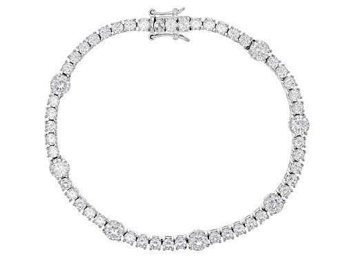 Photo of Vanna K ™ For Bella Luce ® 14.04ctw Vanna K Cut Round Platineve® Bracelet - Size 7.5