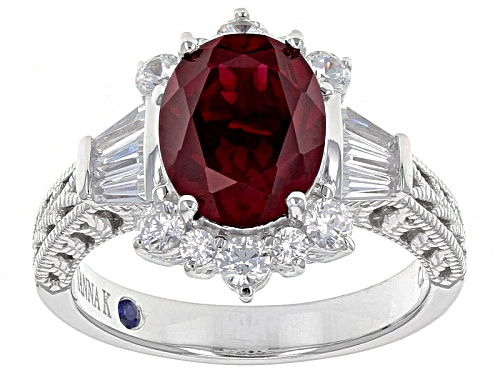 Photo of Vanna K ™ For Bella Luce ® 4.00ctw Lab Created Ruby & Diamond Simulant Platineve® Ring - Size 5