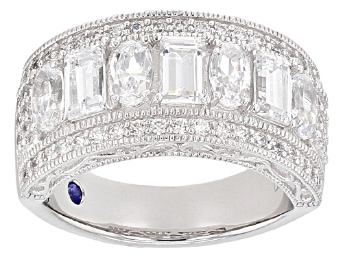 Photo of Vanna K ™ For Bella Luce ® 3.47ctw Emerald Cut, Oval & Round Platineve® Band Ring - Size 10