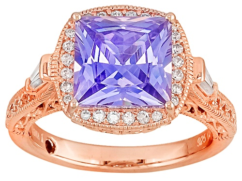 Photo of Vanna K™ For Bella Luce® 6.57ctw Lavender Color Simulant/Diamond Simulant Eterno™ Ring - Size 10