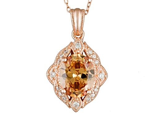 Photo of Vanna K ™ For Bella Luce ® 4.35ctw Champagne & White Diamond Simulant Eterno™ Pendant