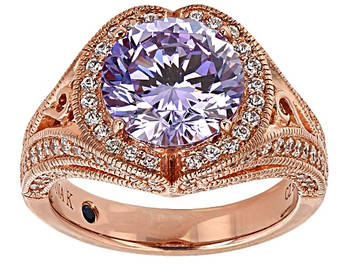 Photo of Vanna K ™ For Bella Luce ® 7.17ctw Lavender And White Diamond Simulants Eterno ™ Ring - Size 7