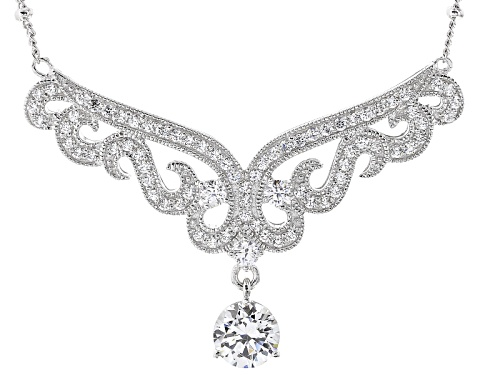 Photo of Vanna K ™ For Bella Luce ® 2.65ctw Platineve® Necklace (1.84ctw Dew) - Size 18